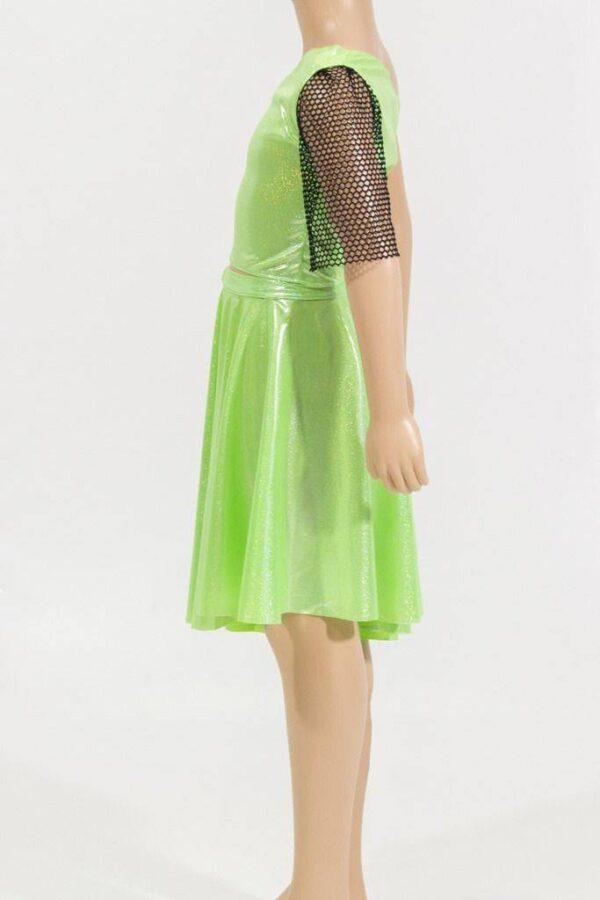 ensemble jupe et haut vert latino de lydie danse