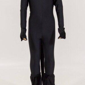 costume de danse chat noir de face