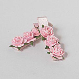 barrette à fleur rose de dance instyle