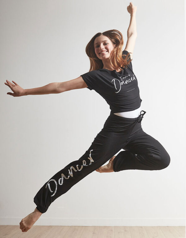 tee shirt court agil de temps danse